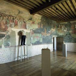 frescoes at the Rochechouart castle